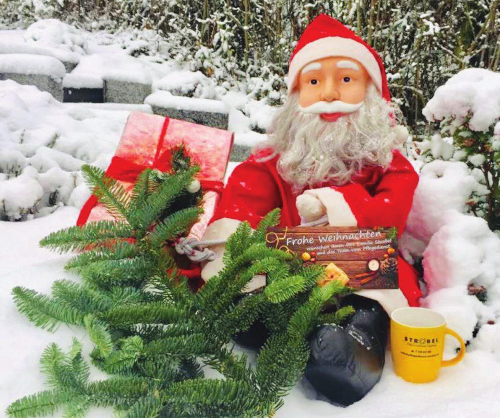 Weihnachtsgrüße vom Pflegedienst Strobel