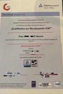 Zertifikat Wundexpertin